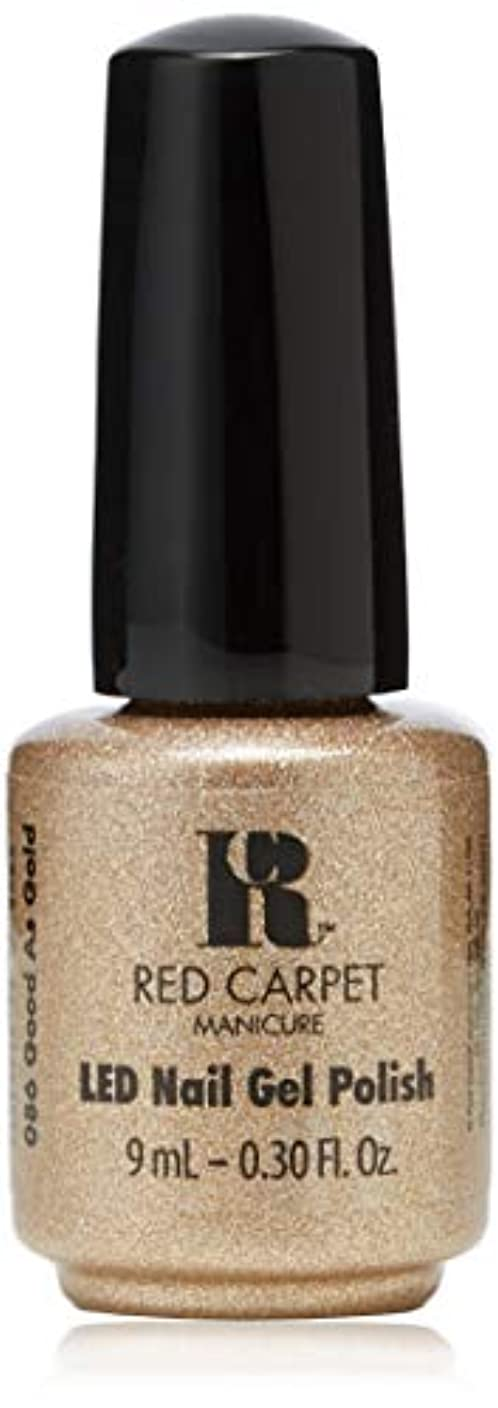 ショップ織機レールRed Carpet Manicure - LED Nail Gel Polish - Good as Gold - 0.3oz/9ml