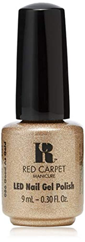 メロディアス仲間、同僚観客Red Carpet Manicure - LED Nail Gel Polish - Good as Gold - 0.3oz/9ml