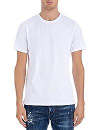 Acne Studios メンズ 25U173MEASURE ホワイト コットン T-シャツ