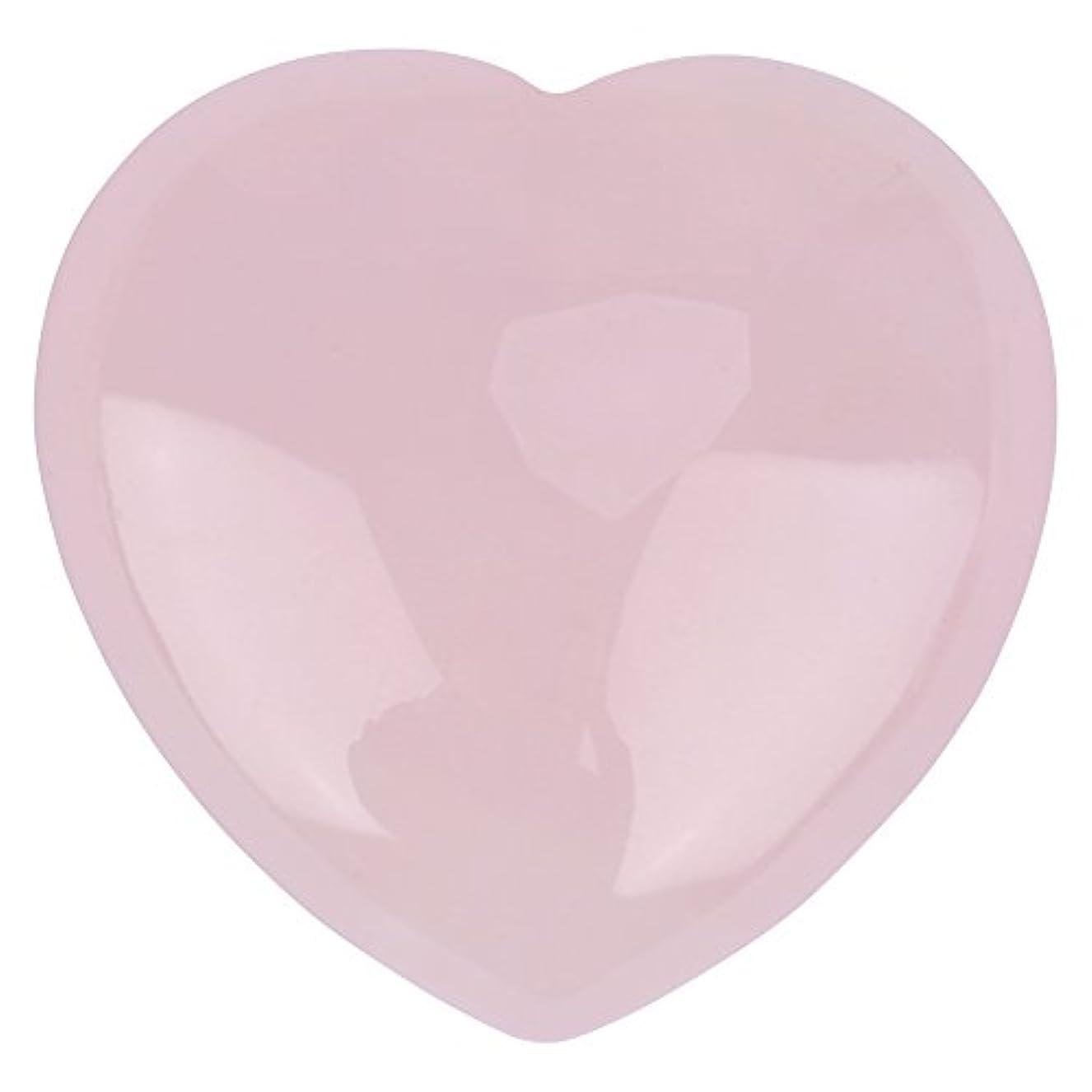 教授フォルダまっすぐにする天然ハートシェイプローズクォーツストーン、装飾ピンククリスタルヒーリングストーン宝石ホームデコレーション