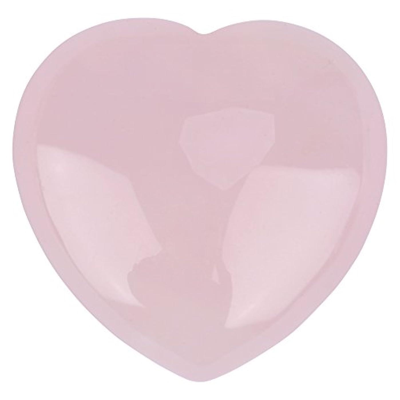 ドメイン球状ラダ天然ハートシェイプローズクォーツストーン、装飾ピンククリスタルヒーリングストーン宝石ホームデコレーション