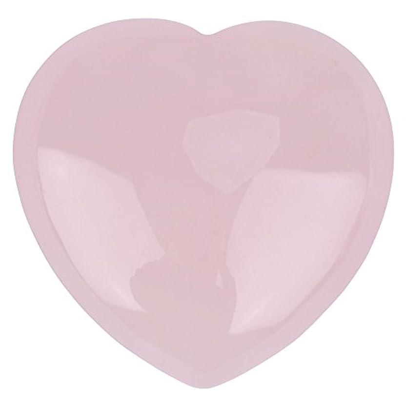 シリンダー再生可能主張天然ハートシェイプローズクォーツストーン、装飾ピンククリスタルヒーリングストーン宝石ホームデコレーション