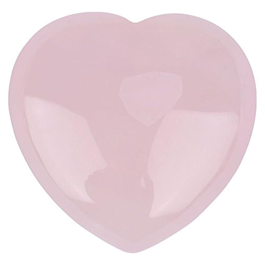荒れ地精神医学重量天然ハートシェイプローズクォーツストーン、装飾ピンククリスタルヒーリングストーン宝石ホームデコレーション