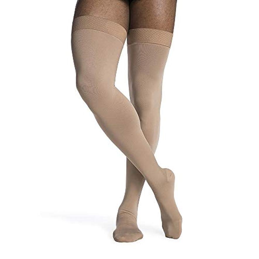 正義フィットネス買い手Sigvaris Access 972NMSM99 20-30 mmHg Mens Closed Toe Thigh Highs, Black, Medium-Short