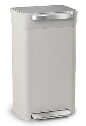 Joseph Joseph ペダル式ゴミ箱 ストーン 30L ゴミを1/3に圧縮するゴミ箱 クラッシュボックス 30036