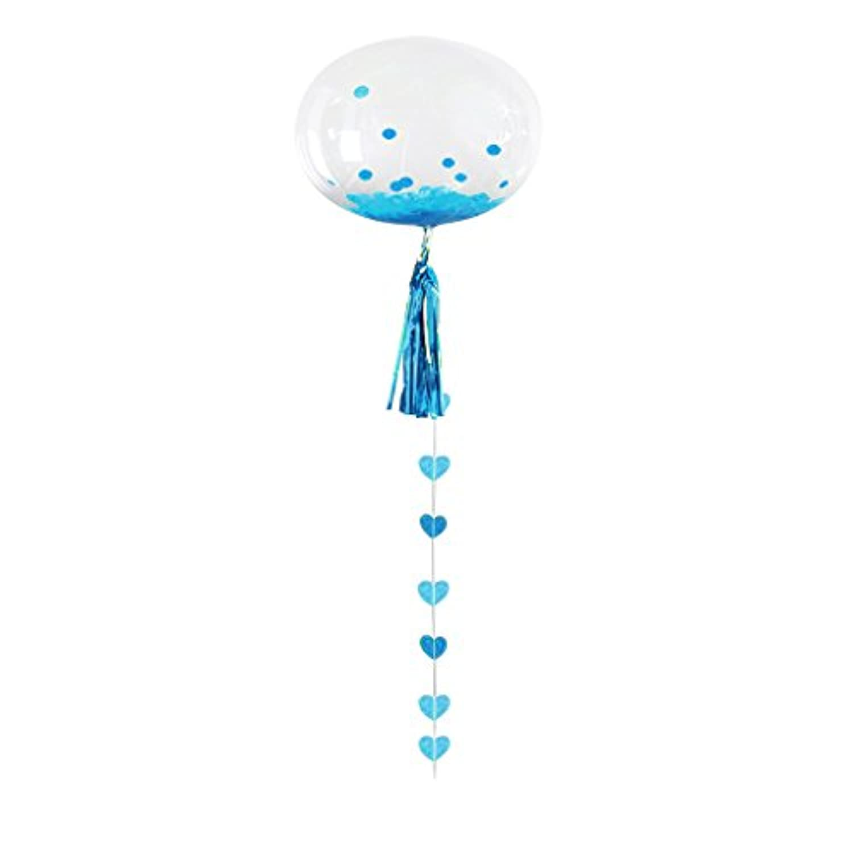 Blesiya 18インチ ボボのバルーン ボボボール 誕生日会 結婚式 宴会 お祝いパーティー 装飾セット 全6色 - ブルー