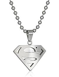 DC Comics SupermanメンズComicsステンレススチールネックレス