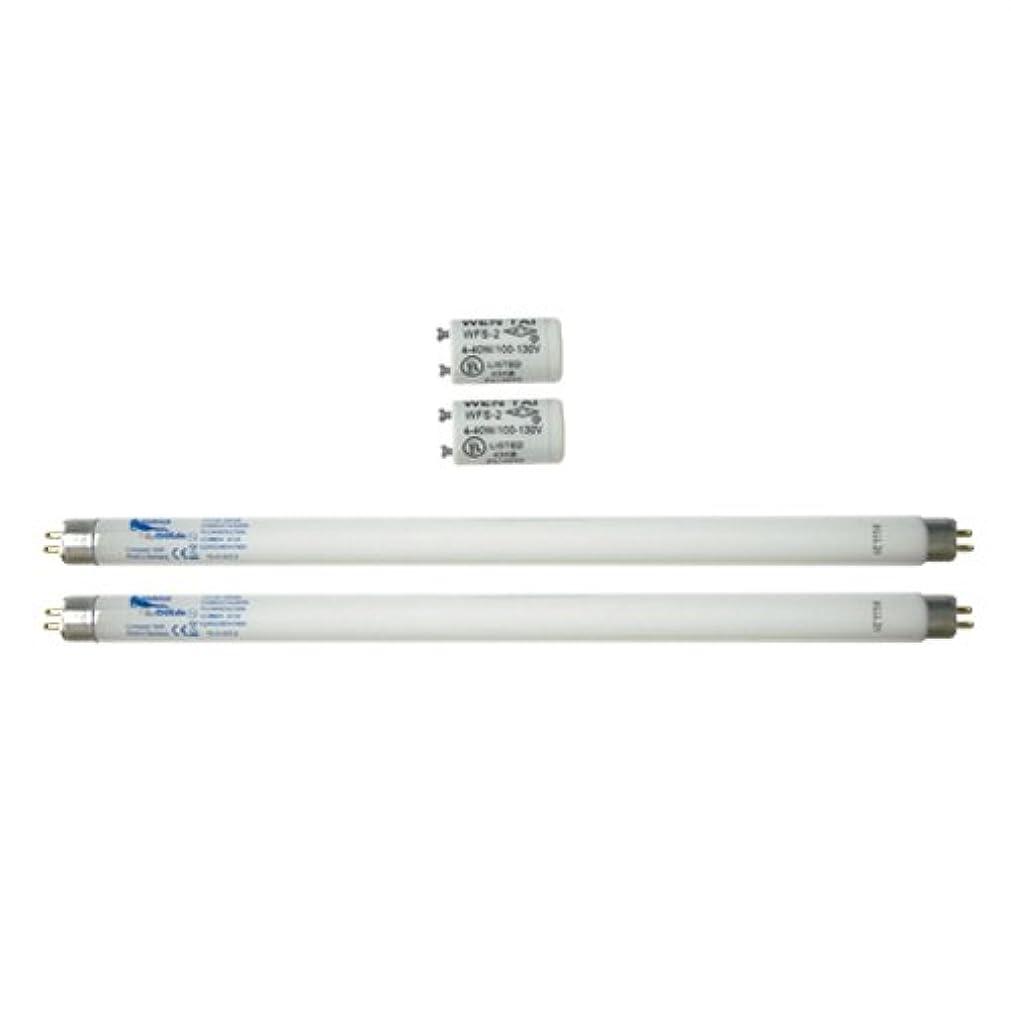 引き受ける求める考慮家庭用日焼けマシン ネオタン用 交換用消耗品セット (UVランプ?チューブ(蛍光管)*2本(15W?29cm)、S2グロースターター*2個(S-2タイプ)
