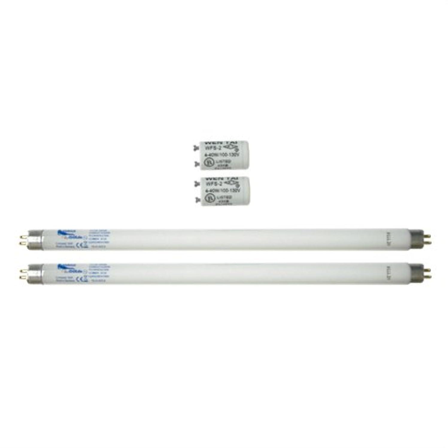 家庭用日焼けマシン ネオタン用 交換用消耗品セット (UVランプ?チューブ(蛍光管)*2本(15W?29cm)、S2グロースターター*2個(S-2タイプ)
