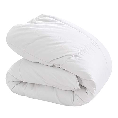掛け布団 冬用 2.5kg 増量タイプ 掛けふとん 洗える シングル GanEn 暖かい掛布団 アレルギー対策 抗菌 防臭加工 収納ケース付き (ホワイト)