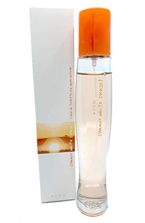 虚偽亜熱帯異議AVON Summer White Sunset Eau De Toilette Natural Spray 50ml - 1.7oz