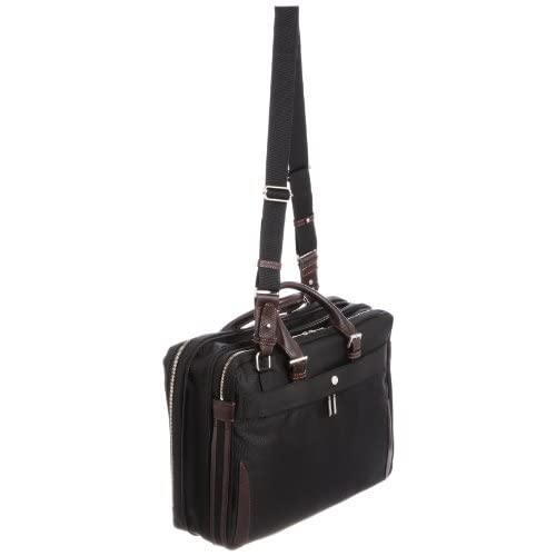 [ウルティマ トウキョウ] ultima tokyo varietas ベルナルド ハンドル長さ調整機能付きビジネスバッグ(B4サイズ・2気室・エキスパンダブル・ソフトパイル生地ポケット付き・ペットボトルホルダー付き・PCポケット付き・中仕切り付き・パスケース付き) 28808 01 (ブラック)