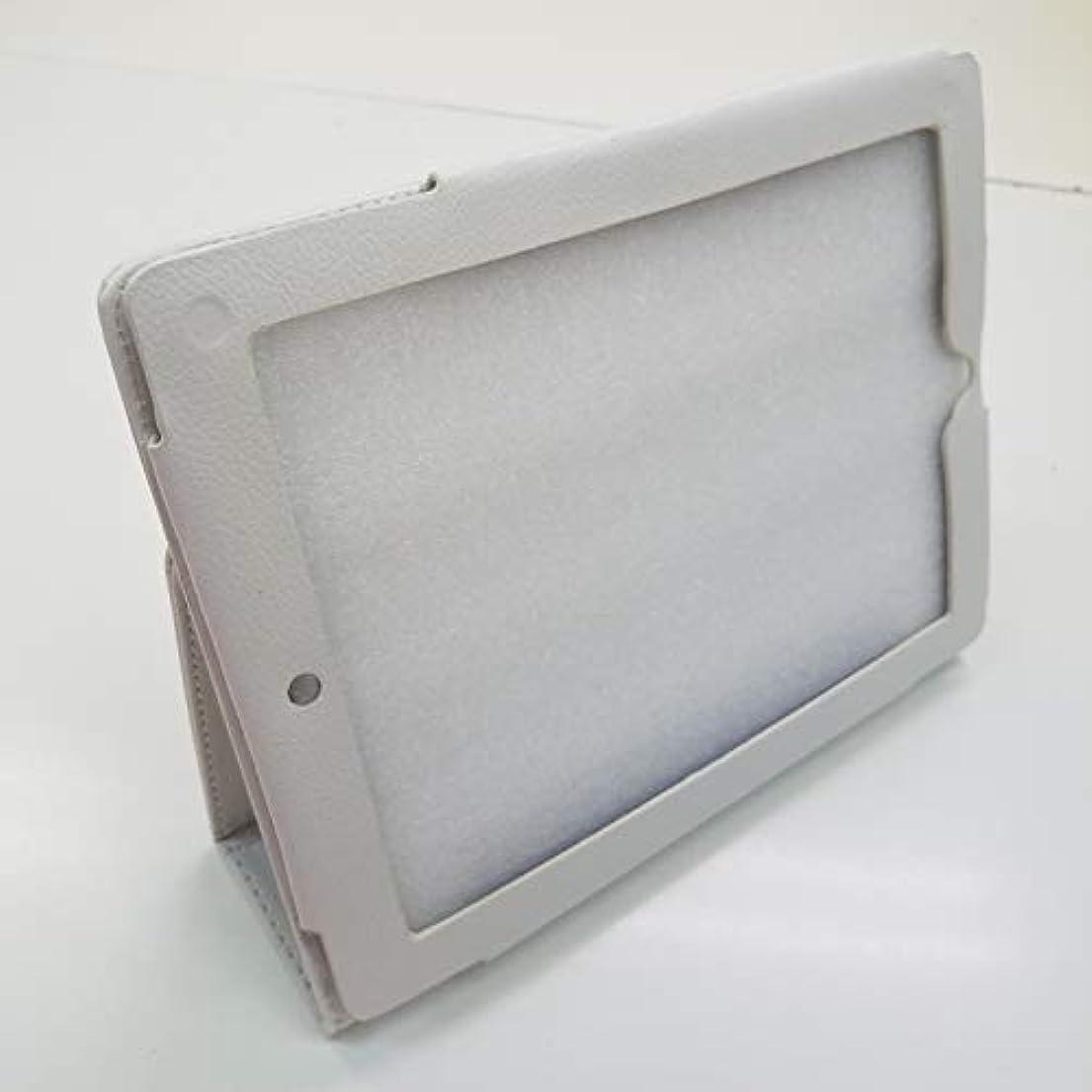 服を洗う料理タウポ湖ipad2/ipad3/iPad4ケースカバー 合皮皮革 レザーケースカバー 白(ホワイト)