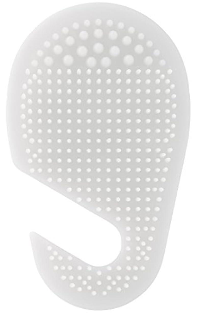 バッフル行政七面鳥スケーター 足の裏用 マッサージ ブラシ 10.2×2×17cm ホワイト SLFT1