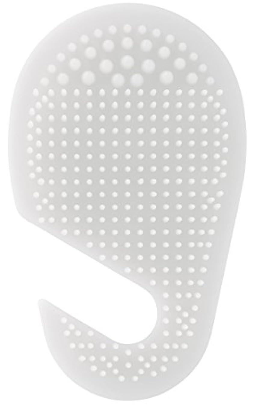 グラム人里離れた倒錯スケーター 足の裏用 マッサージ ブラシ 10.2×2×17cm ホワイト SLFT1