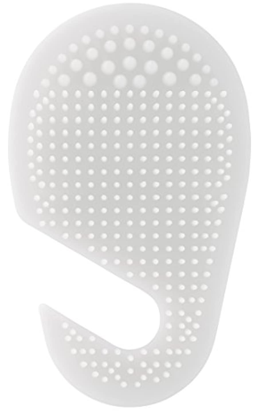 小売打撃廃棄スケーター 足の裏用 マッサージ ブラシ 10.2×2×17cm ホワイト SLFT1