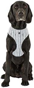 MOG & BONE Neoprene Dog Harness Chambray Stripe Print S