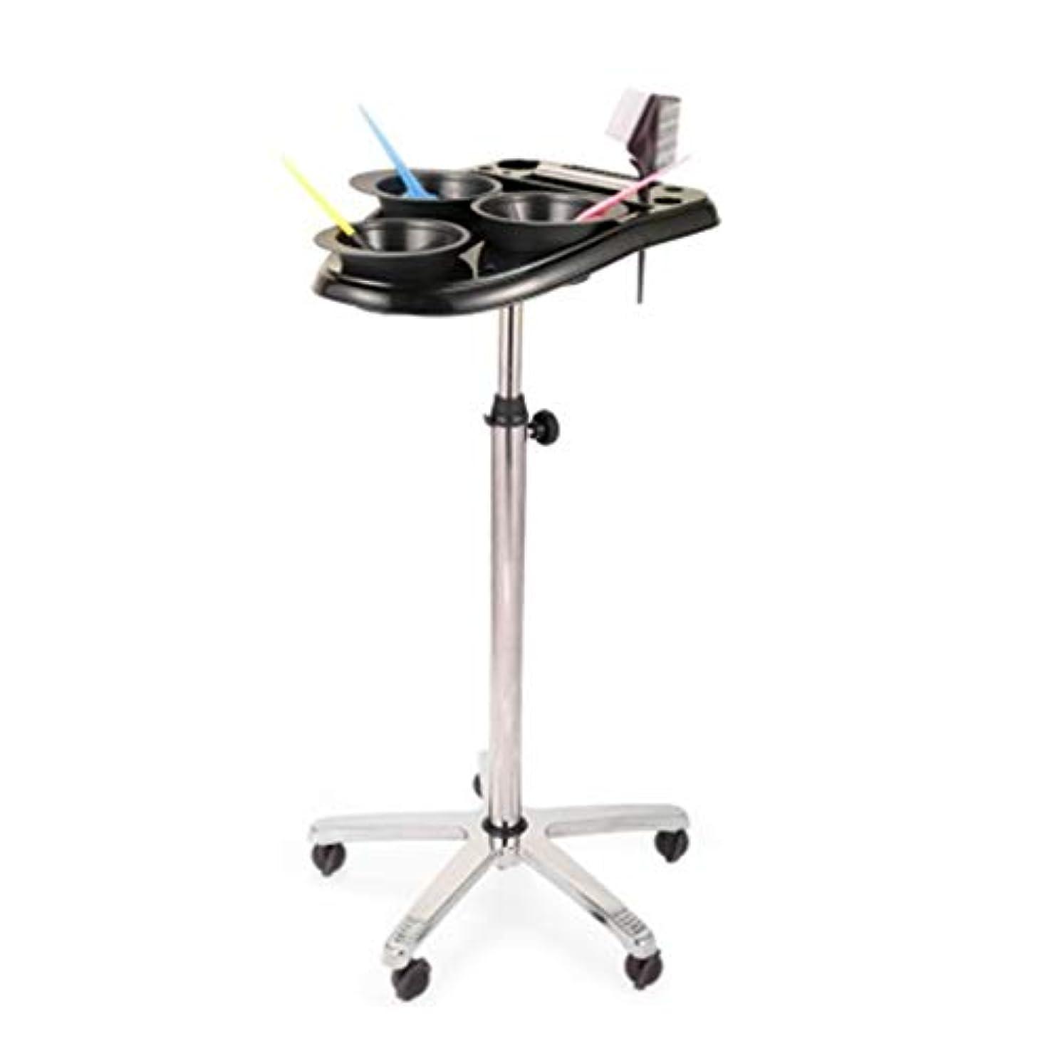 苦痛小数サバントサロントロリー3染料ボウルローリングサロンモバイルヘアサロン楽器トレイ調節可能な高さトロリーサロン美容ヘアサービスツール