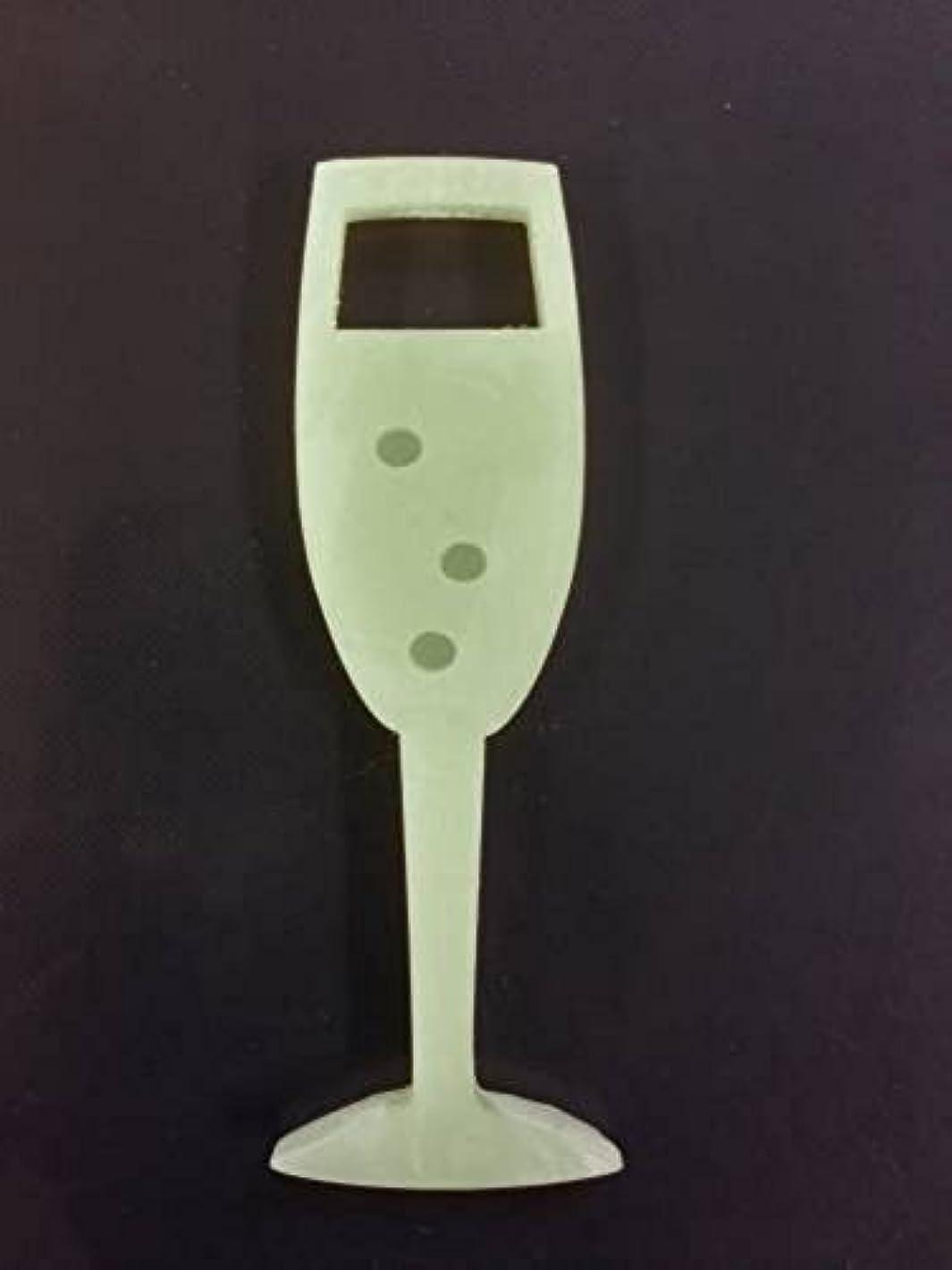 財団促進するケープGRASSE TOKYO AROMATICWAXチャーム「シャンパングラス」(GR) レモングラス アロマティックワックス グラーストウキョウ