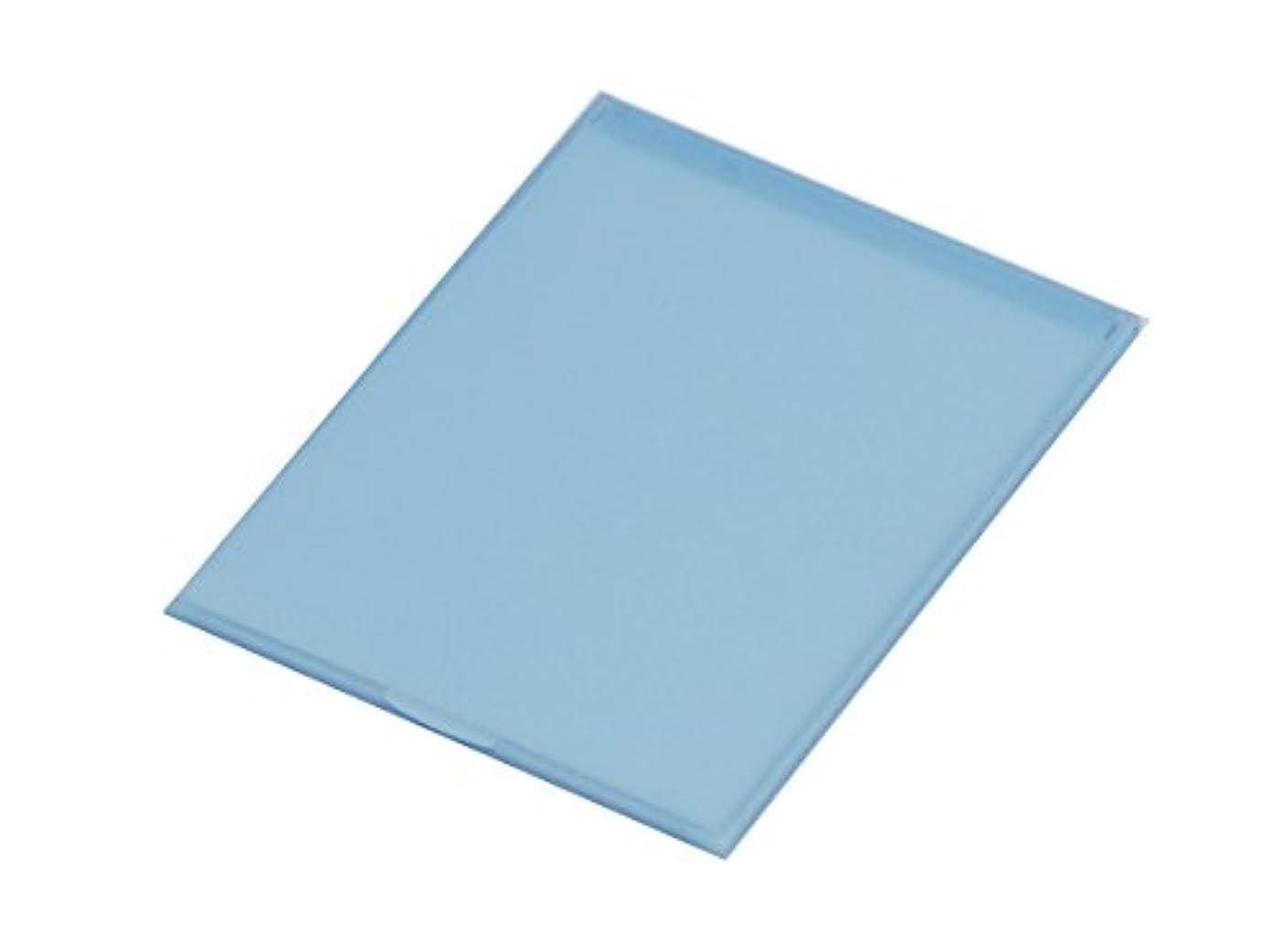 十分に触覚チョーク堀内鏡工業 スリム&ライト パステルカラー コンパクトミラー M ブルー