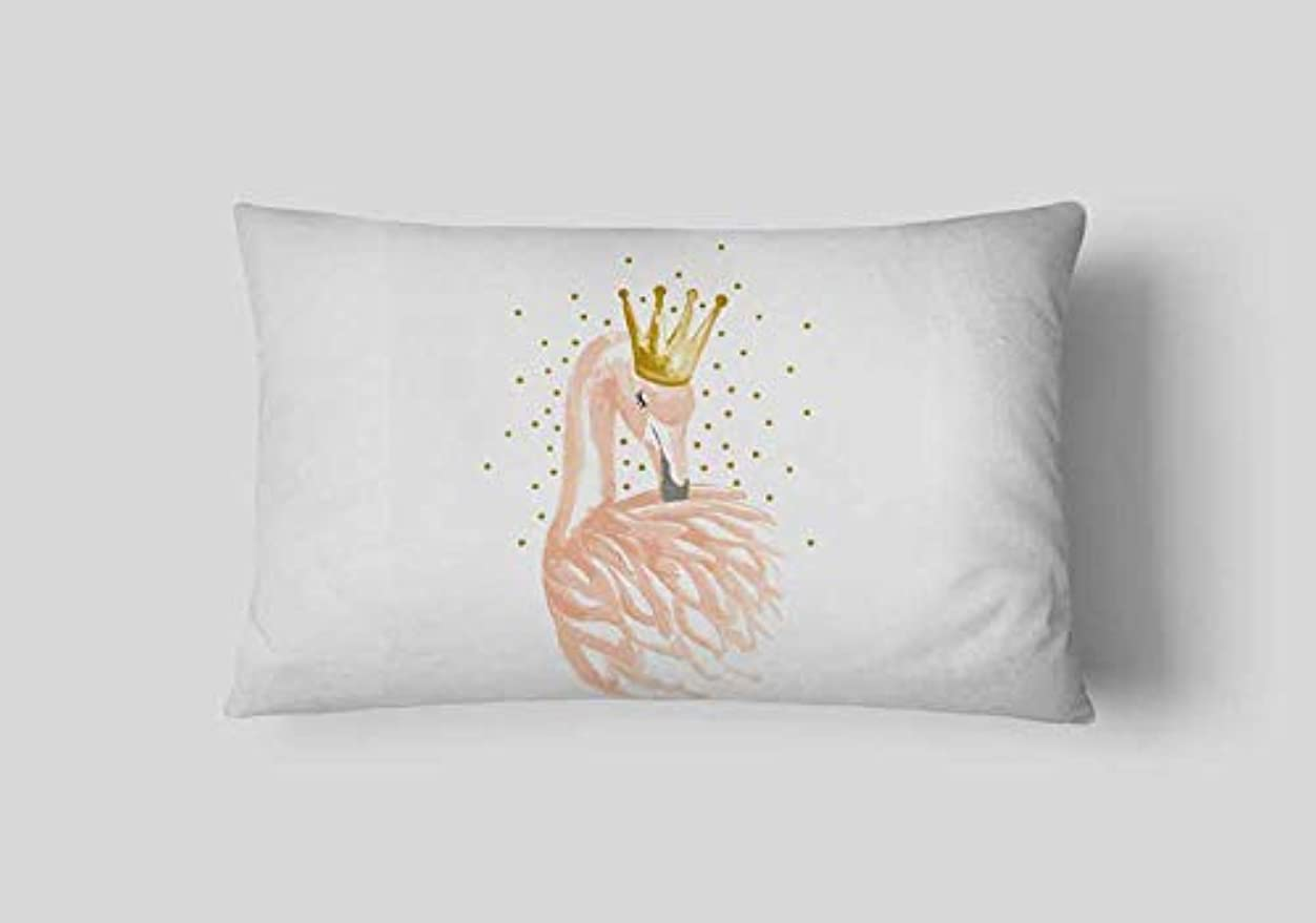 焼くリップLIFE 新しいぬいぐるみピンクフラミンゴクッションガチョウの羽風船幾何北欧家の装飾ソファスロー枕用女の子ルーム装飾 クッション 椅子