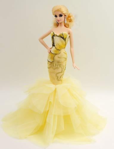 813bc9b6892 Cora Gu [ハンドメイドドレス 12インチ 人形用 ハンドメイド クラシック ドリス マーメイドガウン 12インチ