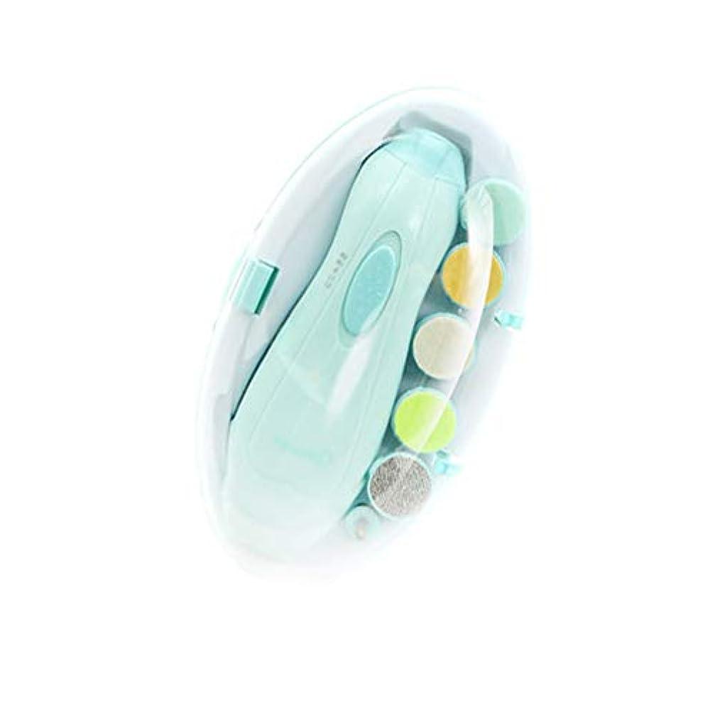 結婚するロック解除自体低騒音電動ネイルケアキット多機能ベビーネイルポリッシャーアタッチメント6種類付き、コアグリーン
