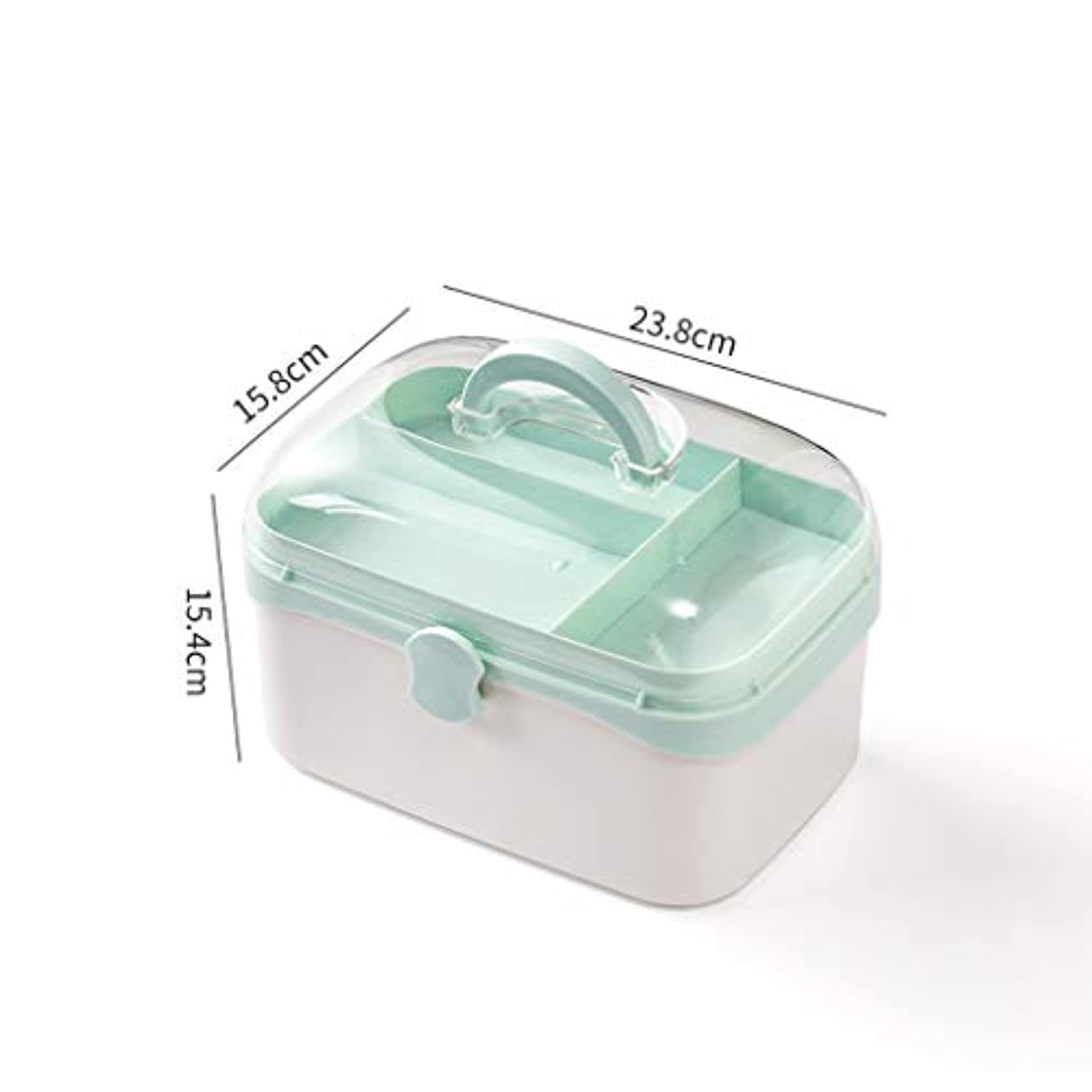 非難ログビヨン家庭用薬箱多層家庭用薬箱薬箱学生薬収納ボックス LIUXIN (Color : Blue, Size : 23.8cm×15.8cm×15.4cm)