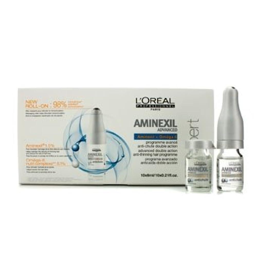 モザイク債権者バドミントンロレアル Professionnel Expert Serie - Aminexil Advanced Anti-Thinning Hair Programme 10x6ml [並行輸入品][海外直送品]