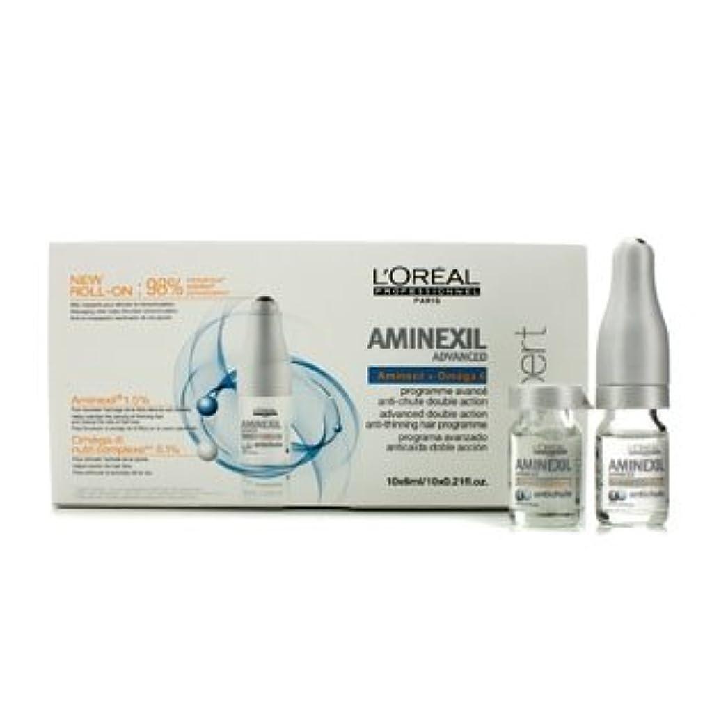 葉っぱ弾薬フリッパーロレアル Professionnel Expert Serie - Aminexil Advanced Anti-Thinning Hair Programme 10x6ml [並行輸入品][海外直送品]