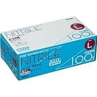 (まとめ) 川西工業 ニトリル 使いきり極薄手袋 粉なし ホワイト L #2039 1箱(100枚) 【×5セット】