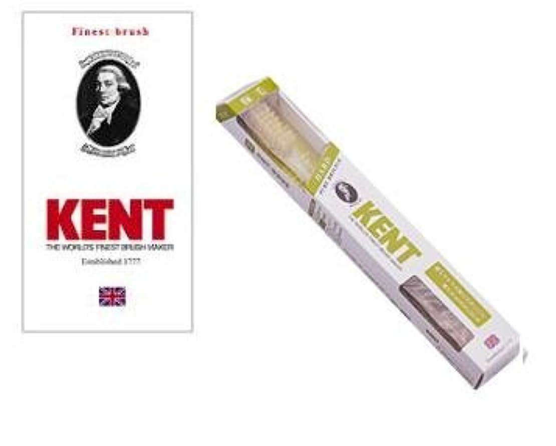 配送かび臭い人口KENT(ケント) 豚毛歯ブラシ ラージヘッド かため 2本