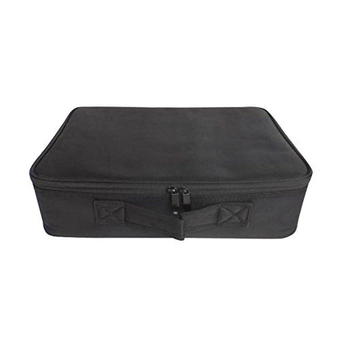 化粧オーガナイザーバッグ ポータブルカジュアルメイク化粧品収納ケースアーティスト収納バッグブラシバッグトイレットオーガナイザーツールと調整可能な仕切り 化粧品ケース