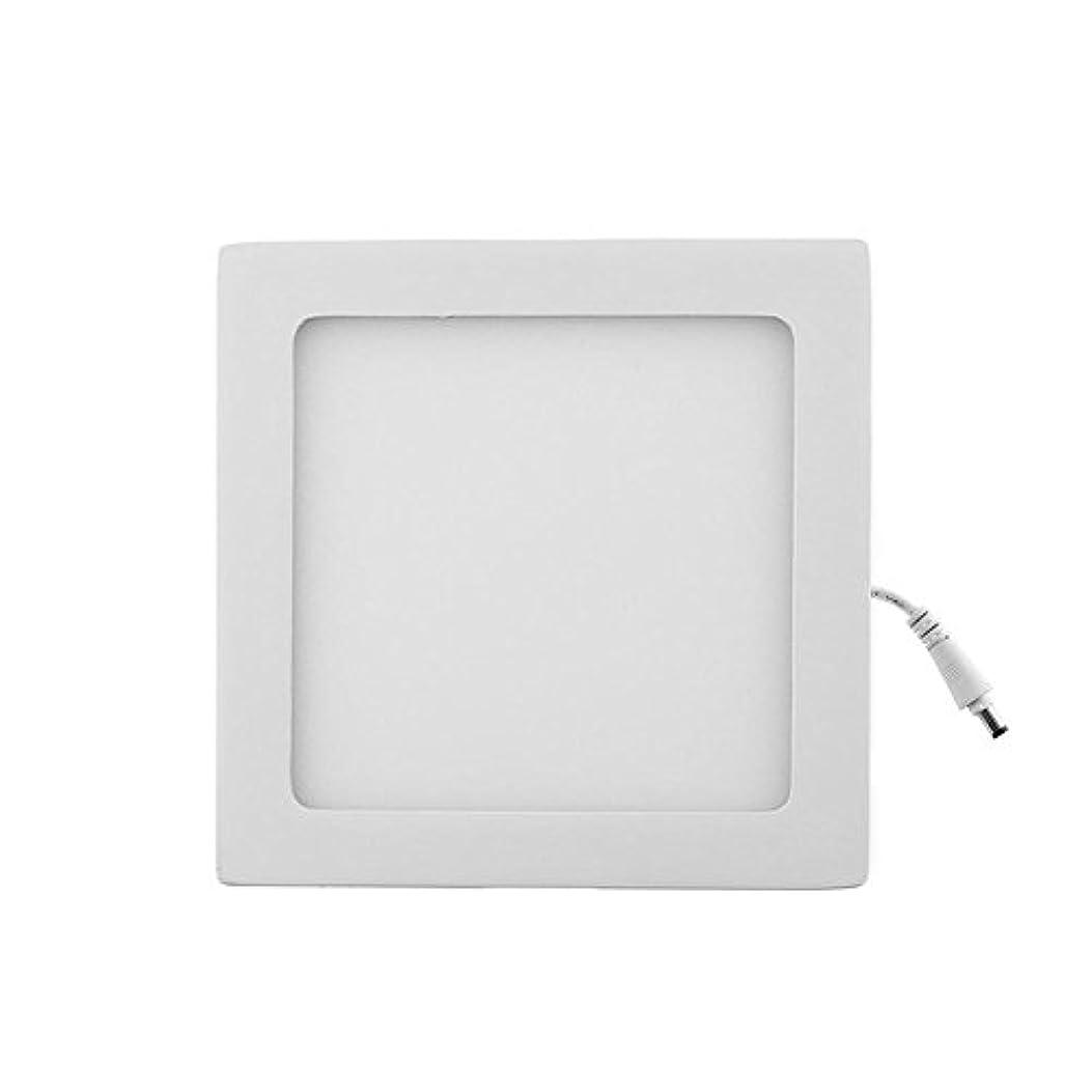 徒歩でコンセンサス天気Demiawaking 15W四角形 LEDパネルライト ダウンライト 天井灯 シーリングライト 埋め込み式 天井照明 超薄型 クールホワイト