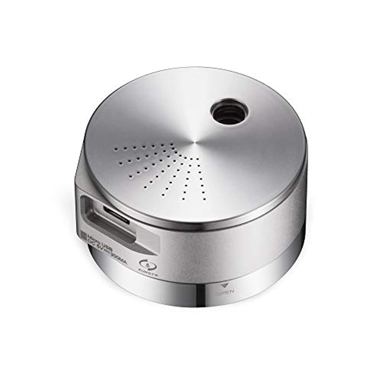 音楽を聴く有力者散るミニ加湿器 - ポータブルエッセンシャルオイルディフューザー、USBチャージ、自動シャットオフアロマディフューザー(アルミ、25ml) 141[並行輸入]