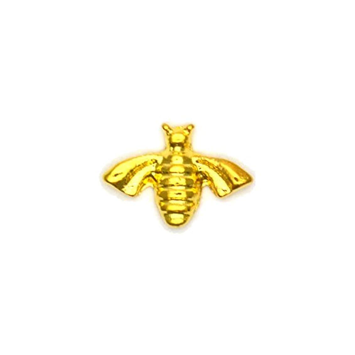 寄生虫スペイン語服を洗うメタルパーツ ミツバチパーツ ゴールド 4個入 蜂 ミツバチ ハニービー