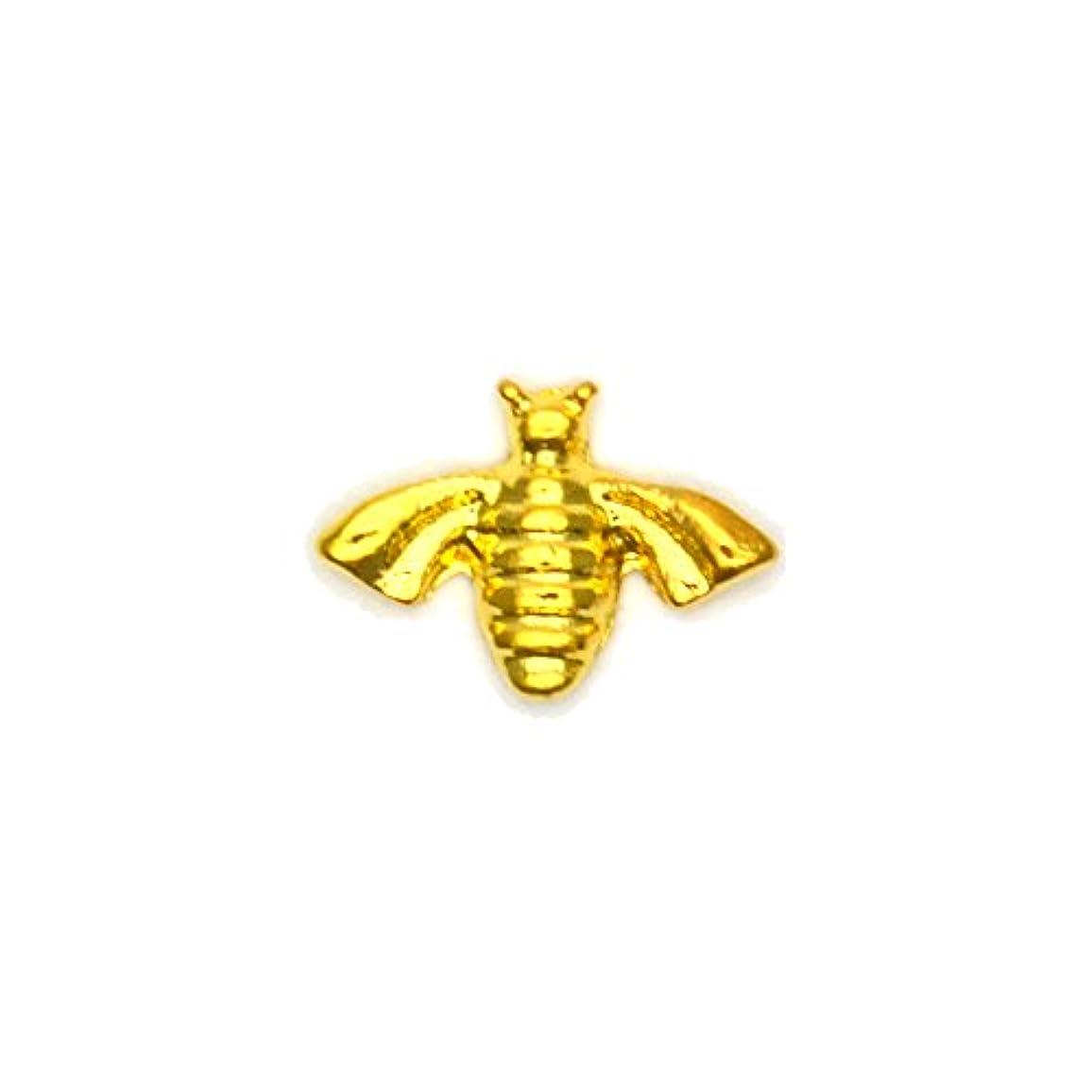 内向き推測地域メタルパーツ ミツバチパーツ ゴールド 4個入 蜂 ミツバチ ハニービー