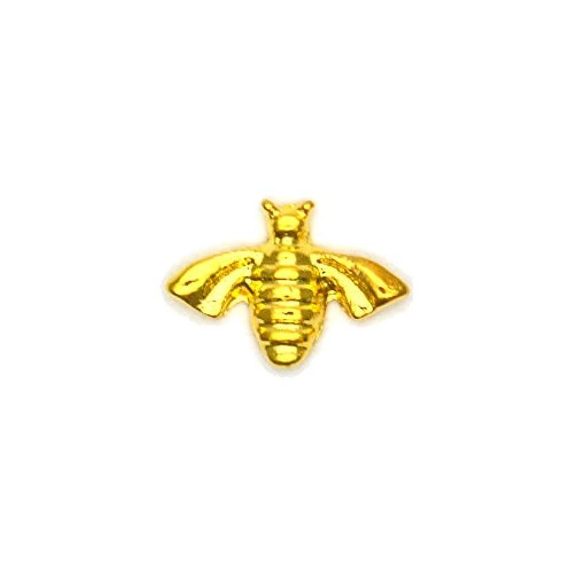 思想枢機卿ドループメタルパーツ ミツバチパーツ ゴールド 4個入 蜂 ミツバチ ハニービー
