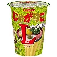 【販路限定品】カルビー じゃがりこ ゆず胡椒味 Lサイズ 68g×12個