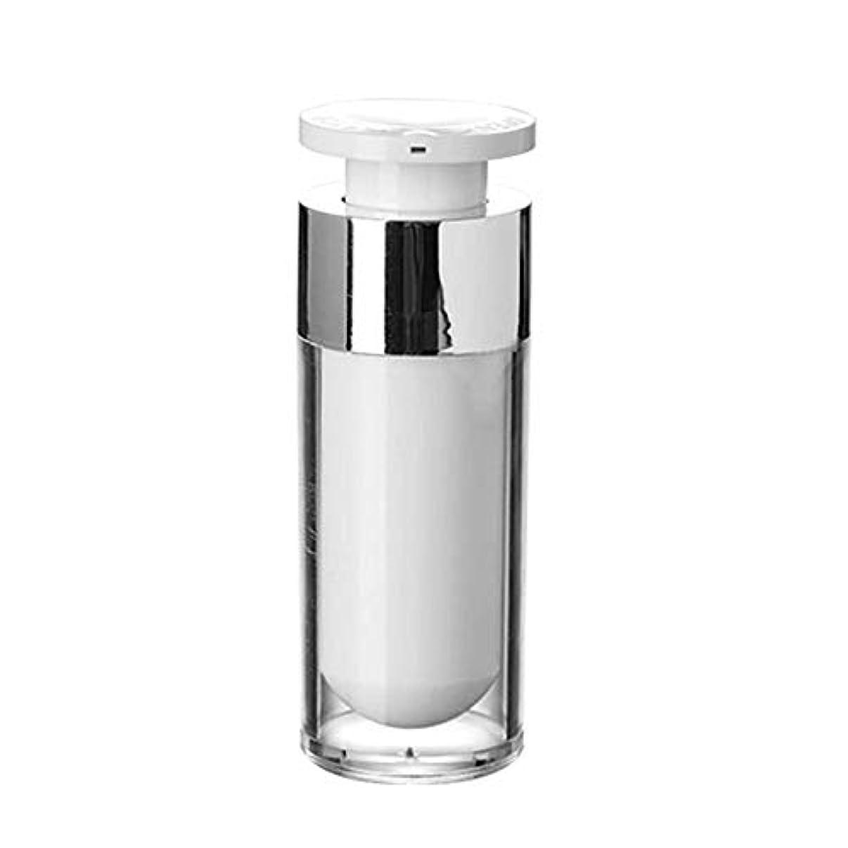 代数クラブ固めるOBEST 詰め替えボトル 真空ボトル ポンプタイプ エアレス プッシュボトル 乳液 小分け容器 プラスチック 携帯用 花粉対応 旅行用(30ML) (ポンプ式)