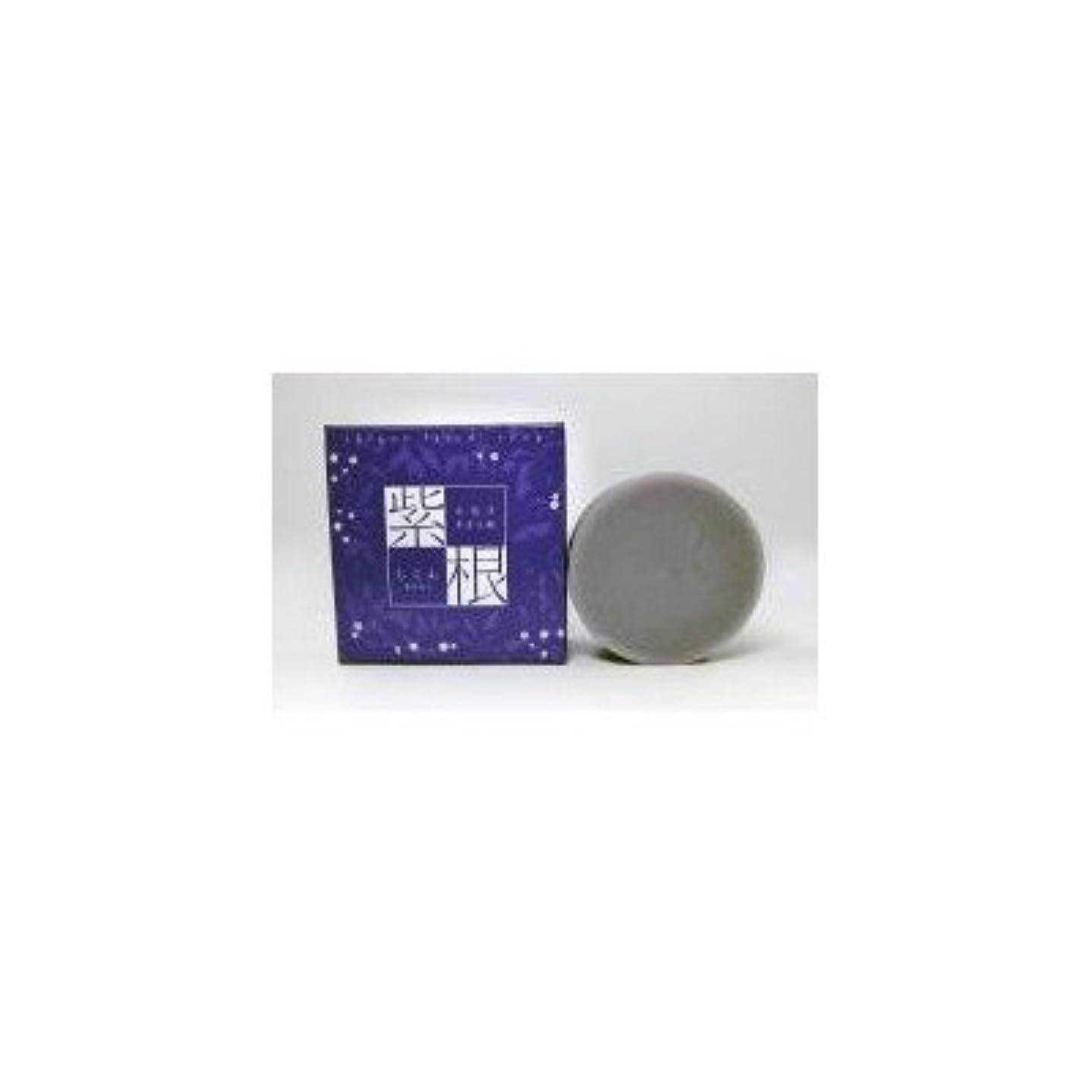 逆さまに歪める多数の紫根石鹸 100g×5個セット