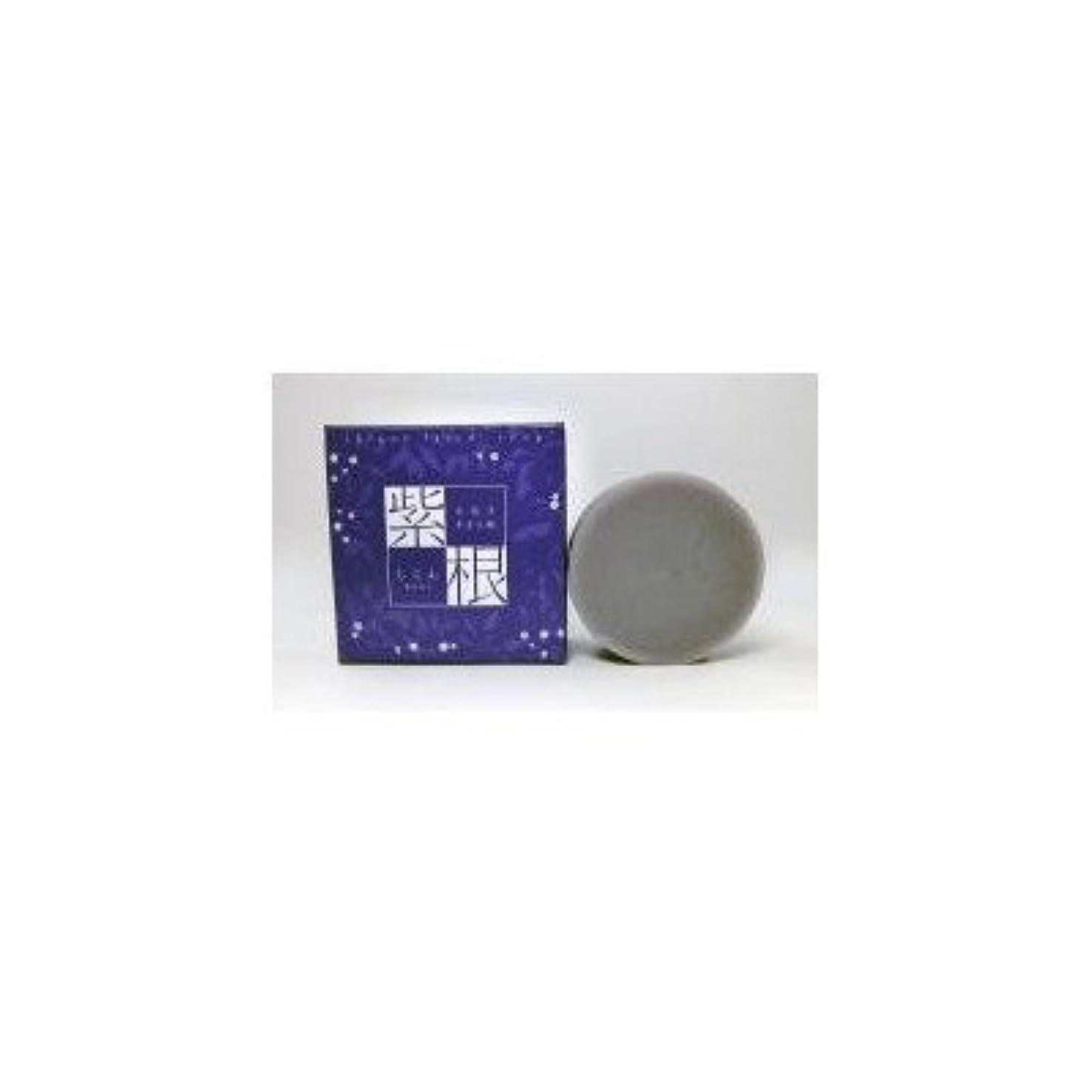 あいさつ苦取り壊す紫根エキスをたっぷり配合した洗顔石鹸 紫根石鹸 100g×5個セット