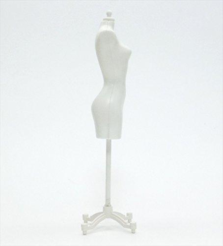 【アウトレット品】 人形用 ドール サイズ マネキン トルソー ドレスフォーム 白 2個セット 【ノーブランド品】W2