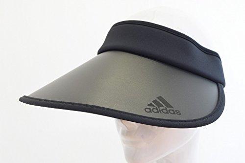 (アディダス)adidas311205クリップバイザーサンバイザー帽子レディース婦人ハットUPF50吸湿速乾日除け紫外線対策UVケアネット通販春夏(ブラック)