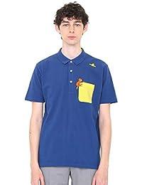 (グラニフ) graniph コレボレーション ポロシャツ ポケット ジョージ (おさるのジョージ) (ネイビー) メンズ レディース (g04) (g17)