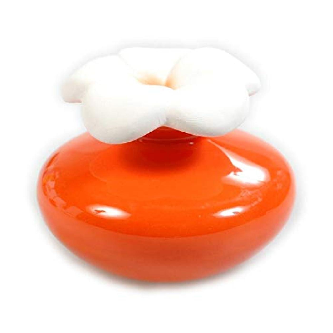 センター古代思春期のMillefiori FIORE ルームフレグランス用 花の形のセラミックディフューザー Sサイズ オレンジ LDIF-FS-004