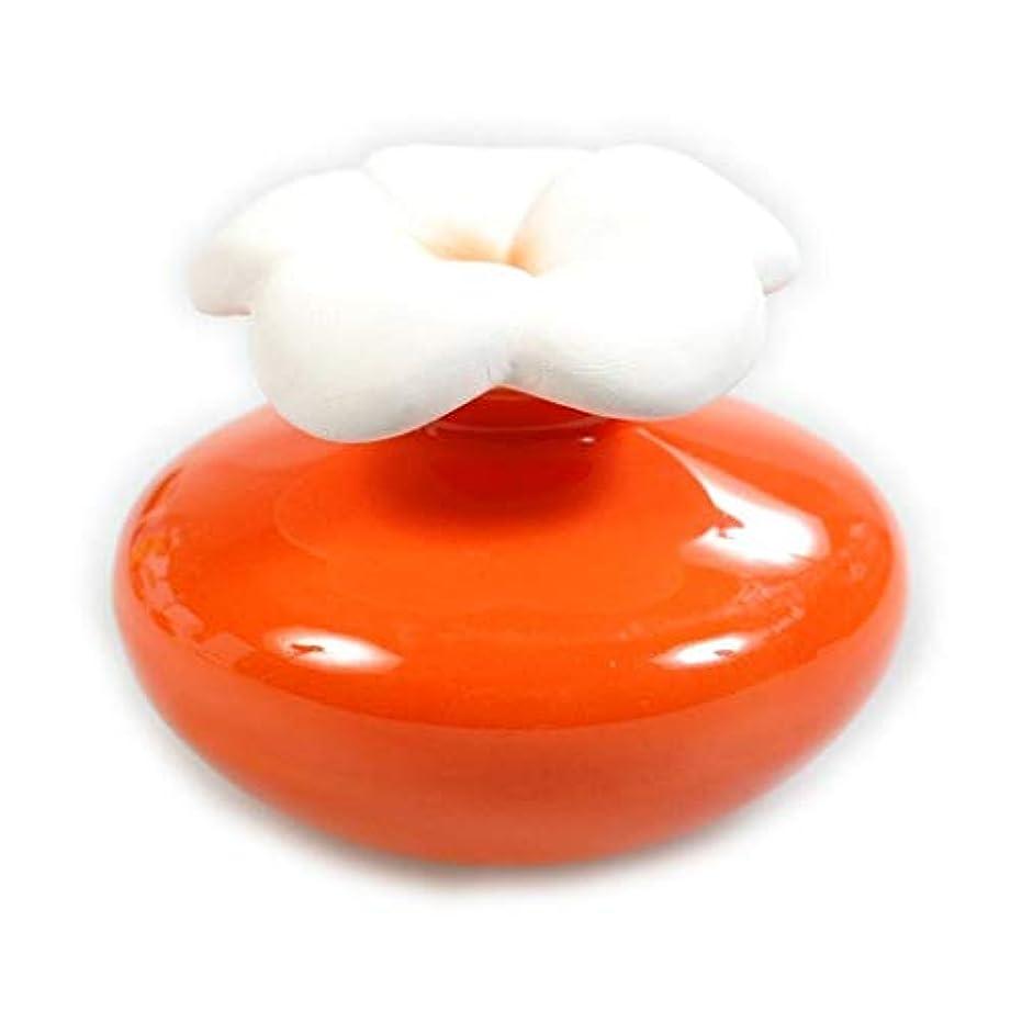柔和神社政治家のMillefiori FIORE ルームフレグランス用 花の形のセラミックディフューザー Sサイズ オレンジ LDIF-FS-004