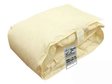 ハンガリー産 ホワイトダウン 93% 洗える 羽毛肌布団 (ダウンケット) クイーン 洗濯ネット付 日本製