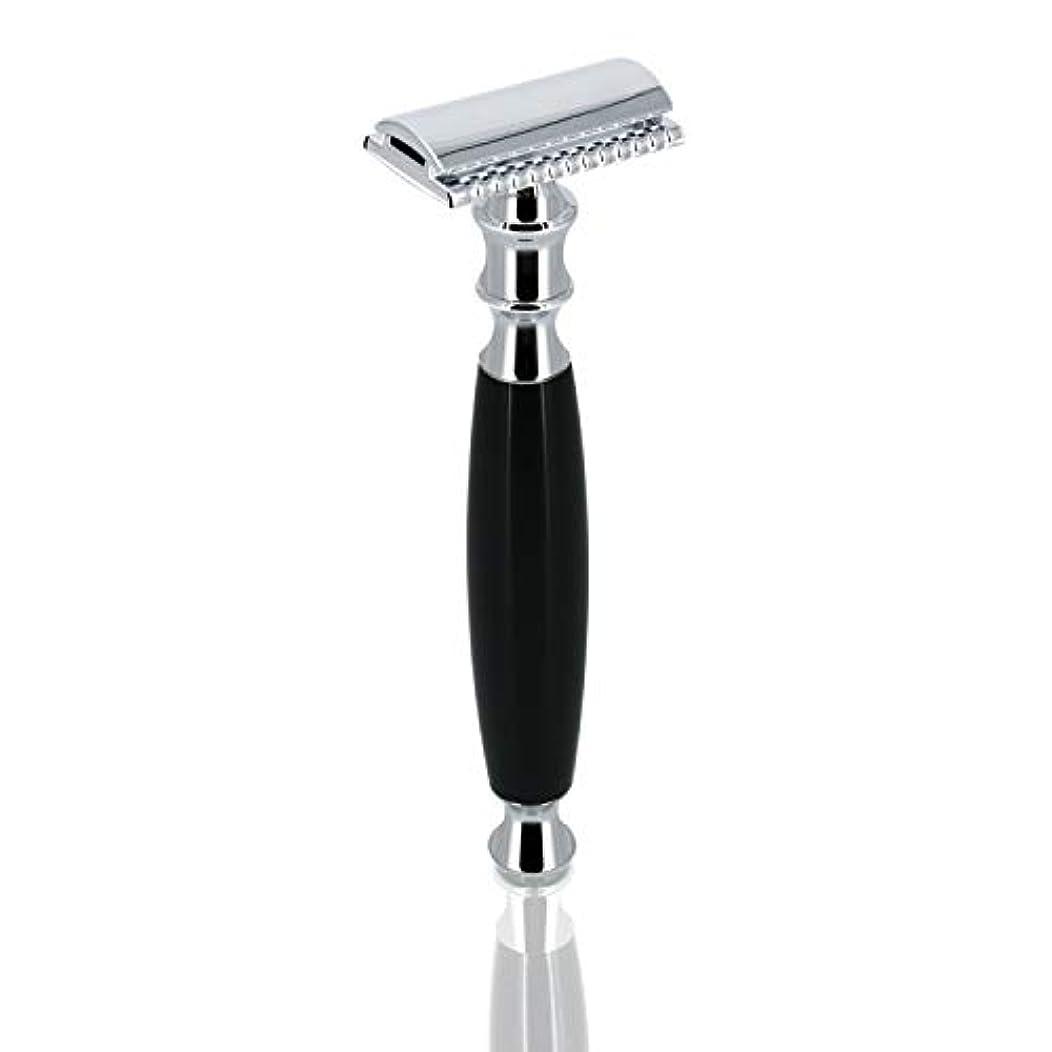 実験をする唯物論ジョリーGRUTT クラシックレイザー 両刃カミソリ 髭剃り 剃刀 ブレード付き …