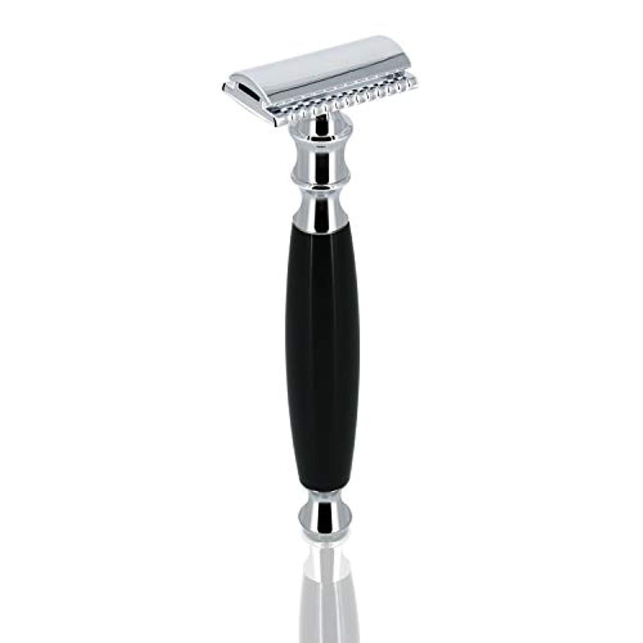バリー人工的な六分儀GRUTT クラシックレイザー 両刃カミソリ 髭剃り 剃刀 ブレード付き …